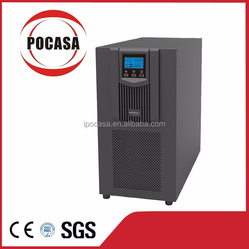High frequency online UPS 10kVA 8kW with internal batteries LED/LCD display