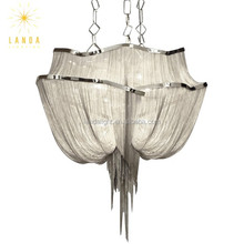 Atlantis contemporary silver chain chandelier lighting