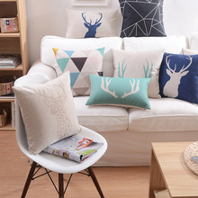 kilim deer print cushion cover and pillow covers
