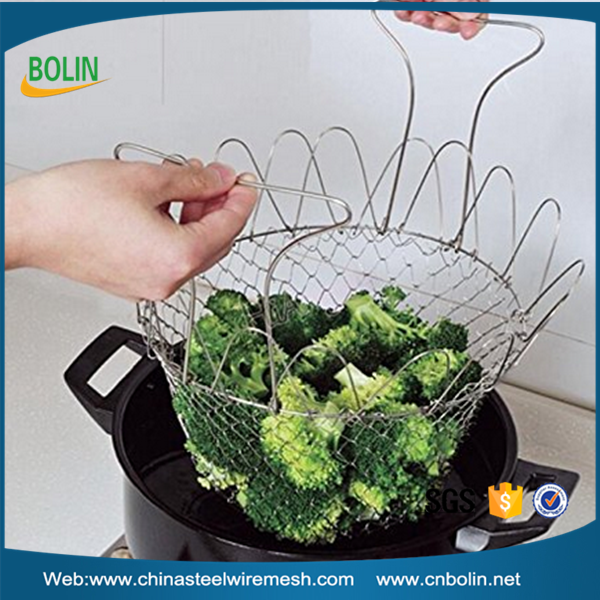 Stainless Steel Strainer Net Basket for Kitchen,Fry French,Drying
