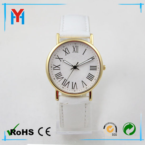 Fashion golden whirlwind case mens leather watch quartz watch water resist 5 bar gold jewelry watch shenzhen manufacture