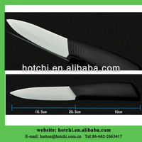 "4"" white blade ceramic knife with anti-slip TPR handle"