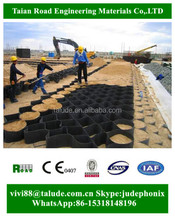 Plastic hdpe geocell gravel core used in road construction 2017