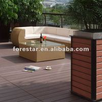 2016 new nice outdoor garden solid wpc decking