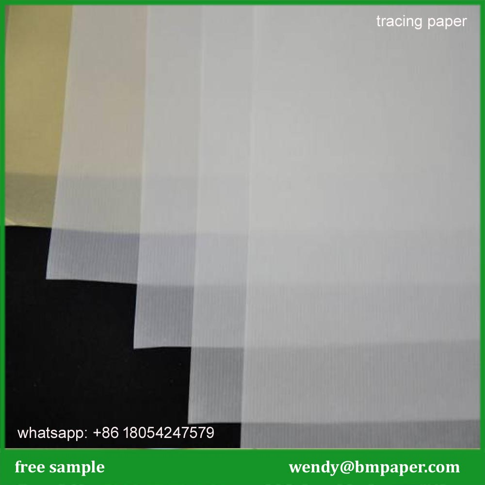 BMPAPER 70gsm white cad inkjet marker paper tracing paper for clothing factory