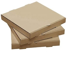 "10"" Length x 10"" Width x 1.75"" Depth Corrugated E Flute Pizza Box, food delivery packaging"