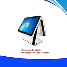 15 inch windows tablet pos system dual screen all in one touch retail pos terminal