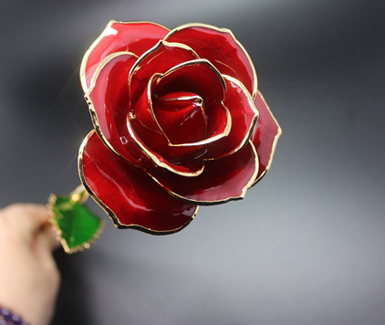 high quality real gold dipped natural flower 24k gold rose