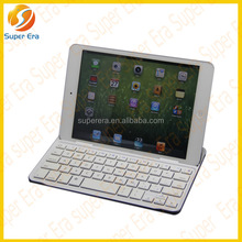 smallest bluetooth keyboard for ipad mini with Aluminum alloy cover,bluetooth 3.0,support smart cover functions------SUPER ERA