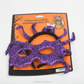 Halloween spider headband and mask set