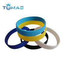personalized debossed ink filled silicone wristband