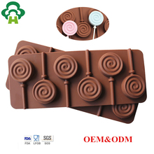 Free Shipping Wholesale food grade silicone doughnut making tool chocolate mold silicon moulds candy lollipop manufacturers
