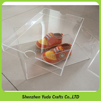 kid shoe storage box clear display box for baby shoe with lid