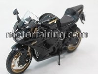 Plastic black kawasaki motorcycle model