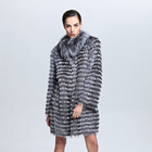 Wholesale Retail European and American Style Real Fox Fur Coat With Factory Price