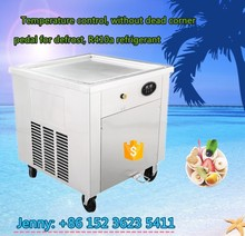 New products double pan ice cream cold plate fried ice cream roll machine with CE certification