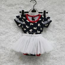 New arrival girl tulle tutu romper dress printing baby clothes
