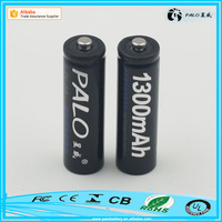 Factory direct sale ni-mh ni-cd aa aaa 1300mah rechargeable batteries 1.2V with packing