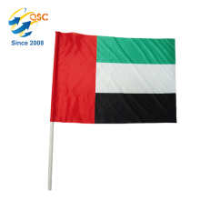 Wholesale polyester UAE(United Arab Emirates)National hand flag