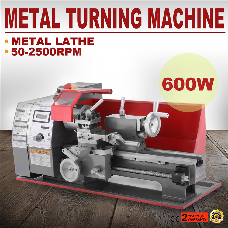 Metal Lathe 7 x 12 Inch Precision Mini Lathe 2500 RPM 600W Variable Speed Milling Benchtop Wood Lathe Machine