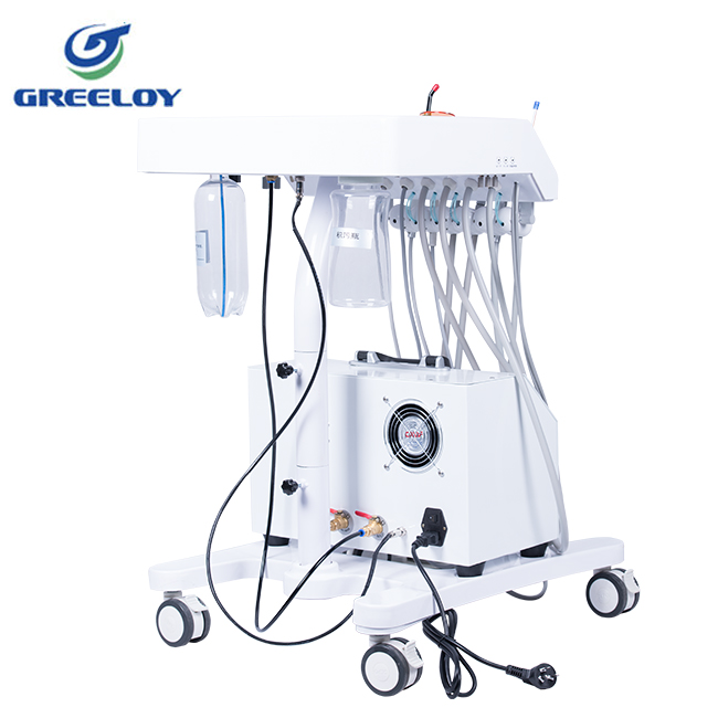 Top quality easy transport mobile dental cart for dental teaching