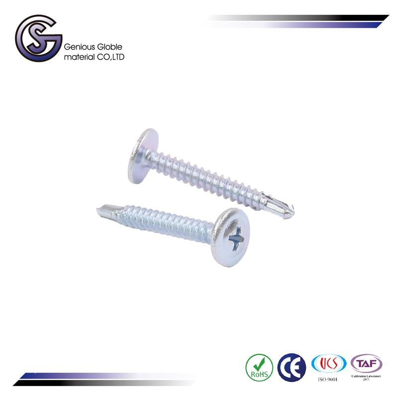 "GS-07 alibaba china supplier # 6 x 1/2"""" hex head zinc plated self drilling screws"