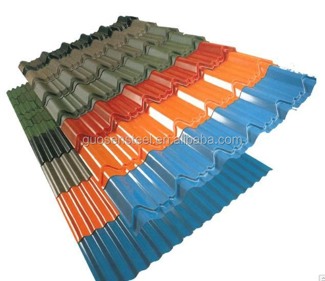 color corrugated sheet/ black corrugated metal roofing sheet/ long span color coated corrugated roofing sheet