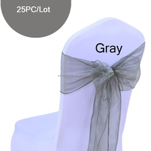 Decoration silver/light blue/purple organza chair sashes