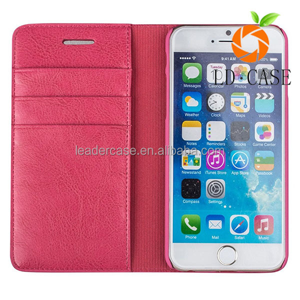 OEM Wholesale PC+TPU Blank Case Leather Skin wallet phone Case for iphone 7