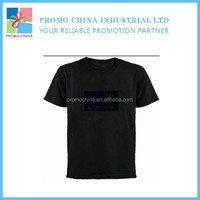 New LED Music Sound Control EL Flashing T Shirt EL Panel T Shirt