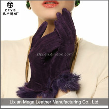 2015 newest hot selling Bright Color Sex Leather Gloves For Women