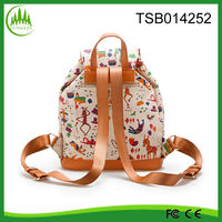 2014 new product wholesale fashion ladies outdoor PU korean promotional backpack