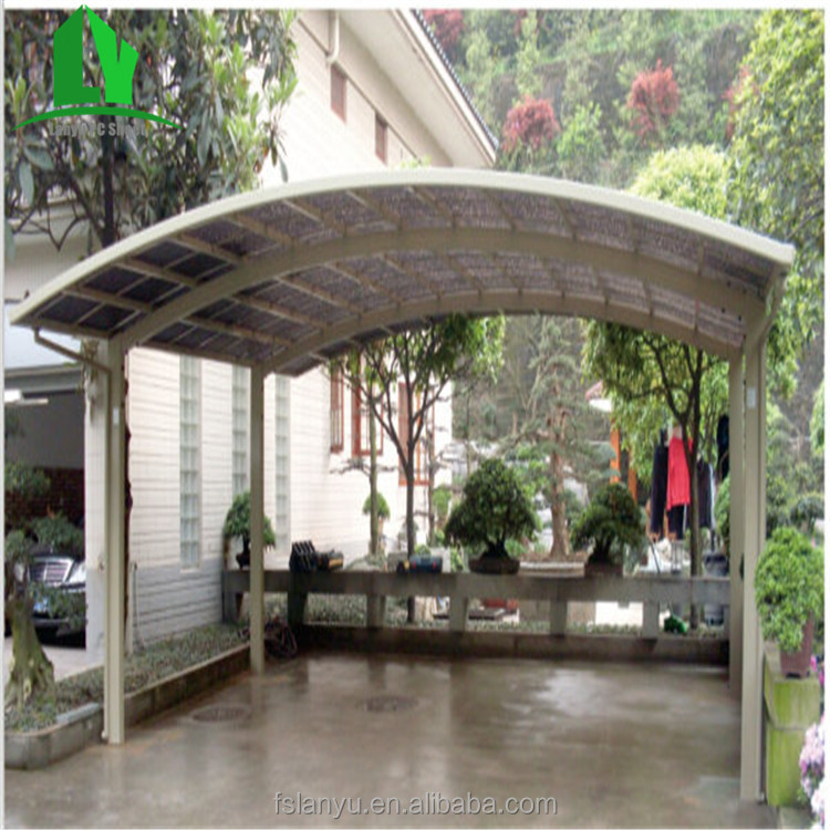 Hot sale polycarbonate snow resistant outdoor metal parking canopy