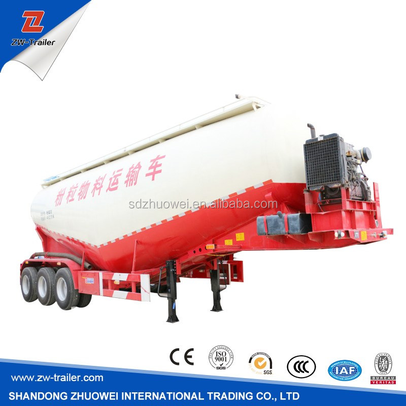 Steel Material diesel fuel type Bulk cement Tank trailer