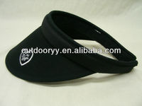 black wholesale golf visor