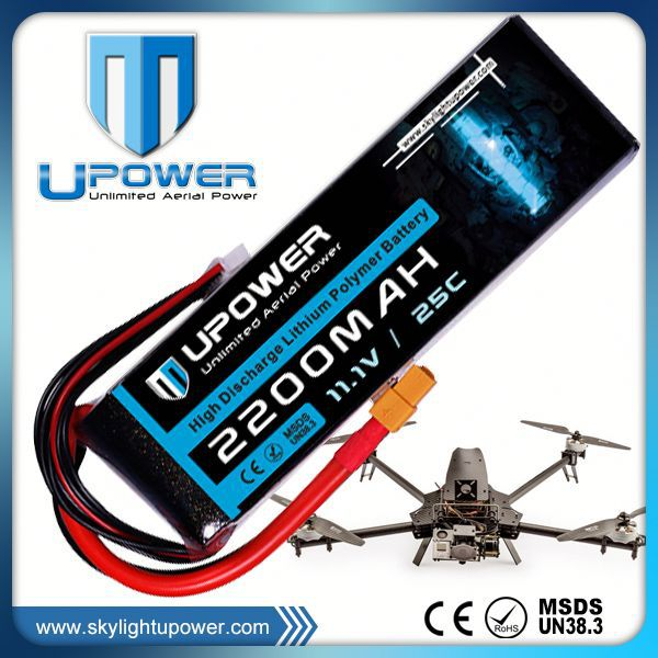 Upower rechargeable 3s 45c li-polymer 11.1v 2200mah rc toy battery for rc models