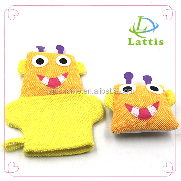Exfoliating Bath Gloves Shower Skin Care Body Cleaning bath Mitt set for kids