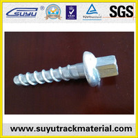 Zinc plated galvanized square head coach screw