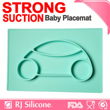 RJSILICONE 2017 one-piece silicone child placemat child silicone kids placemat