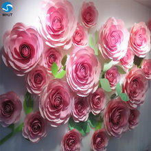 Custom color giant flower artificial wedding wall backdrop decoration paper flower