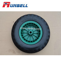 Puncture Proof Trolley Tyres 16''x 6'' with Plastic Hub China Supplier