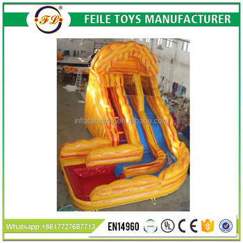 tropical inflatable slide,water wave inflatable slide