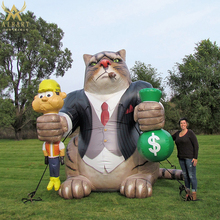 Hot sale inflatable rich cat cartoon animal for advertising