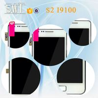 low factory price mobile phone spare parts lcd assembly for Samsung Galaxy s2 i9100 touch screen with frame with logo