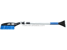 Telescopic long handle snow brush ice scraper for car cleaning