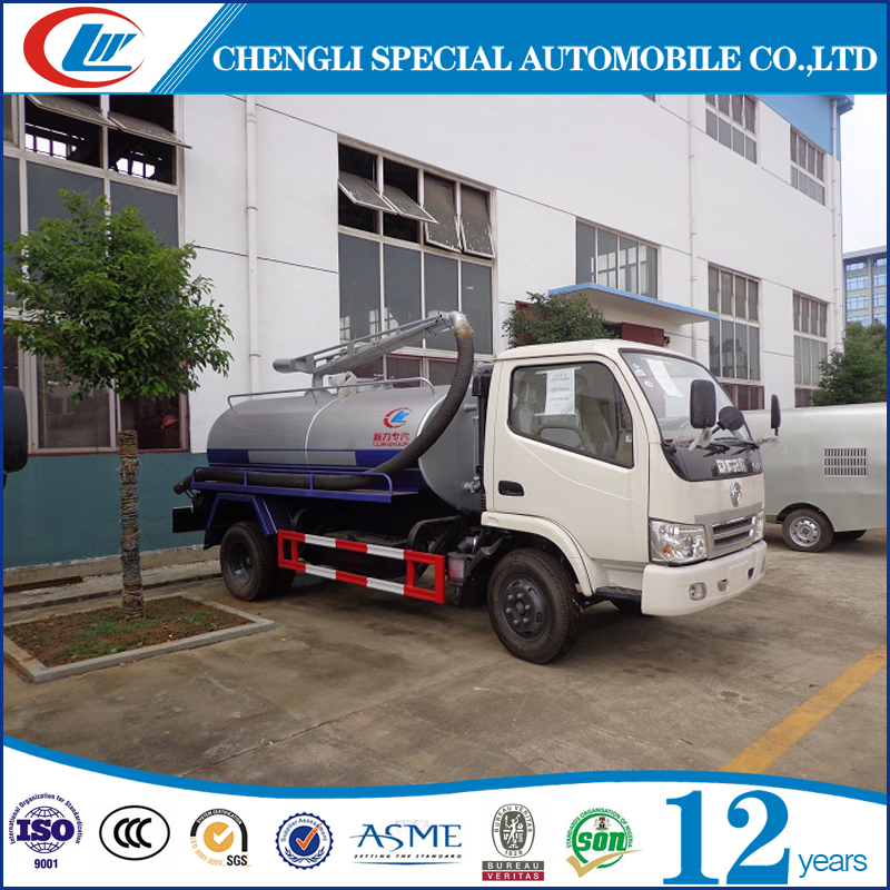 MIni 1000 liters sewer cleaning truck, 1 m3 fecal sewage suction truck, 4*2 driven system