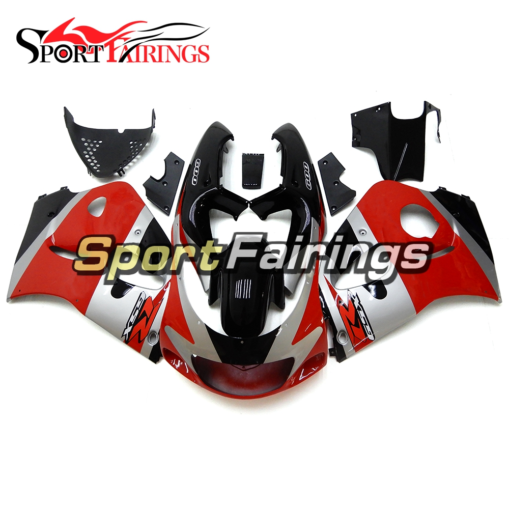 Red Black Fairings For Suzuki GSXR600 GSXR750 96 97 98 99 ABS Plastic Complete Motorcycle Fairing Kit Body Work