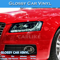 CARLIKE Pearl Blue Glossy Color Changing Car Body Protection Film