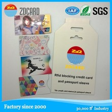 OEM professional manufacturer RFID blocking - card protection sleeve credit card secure protection