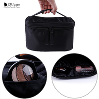 DUcare new design makeup brush logo customized travel cosmetic bag